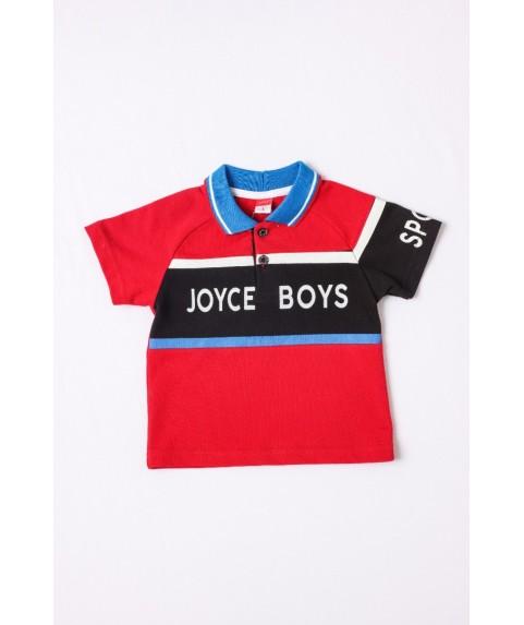 Παιδικό Μπλουζάκι Polo Joyce για αγόρι Κόκκινο/Γαλάζιο 211393-01