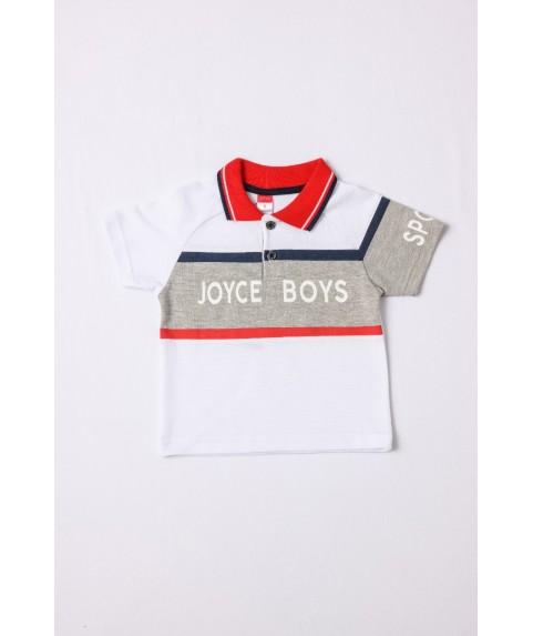 Παιδικό Μπλουζάκι Polo Joyce για αγόρι Λευκό/Κόκκινο 211393-02