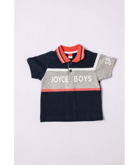 Παιδικό Μπλουζάκι Polo Joyce για αγόρι Σ. Μπλέ/ Κοραλί 211393-04