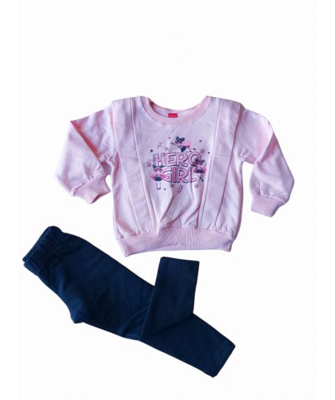 Παiδικό σετ για κορίτσι κολάν με μπλουζάκι Ρόζ Σ. Μπλέ 216111-01