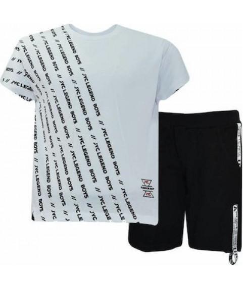 Παιδικό σετ Joyce λευκό/μαύρο για αγόρι 201237-1