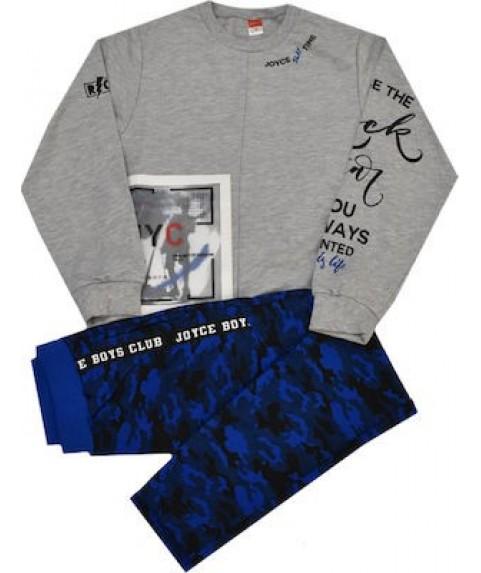 Παιδικό σετ Joyce γκρι/μπλε για αγόρι 201405-1