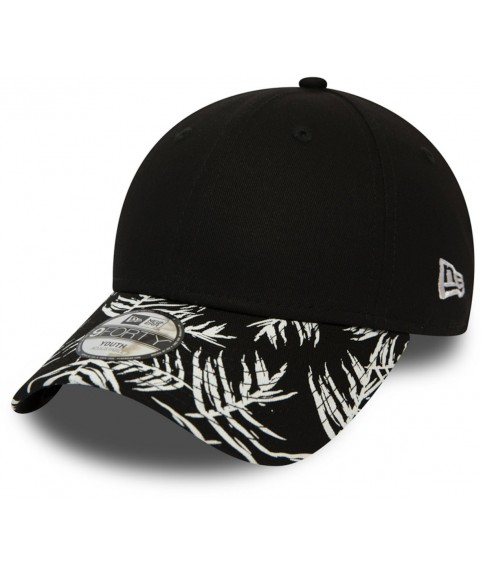 New Era Palm Print 9FORTY KIDS NE Keps, Black