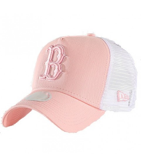 Cap New Era 940W AF Essential Trucker B light pink / white