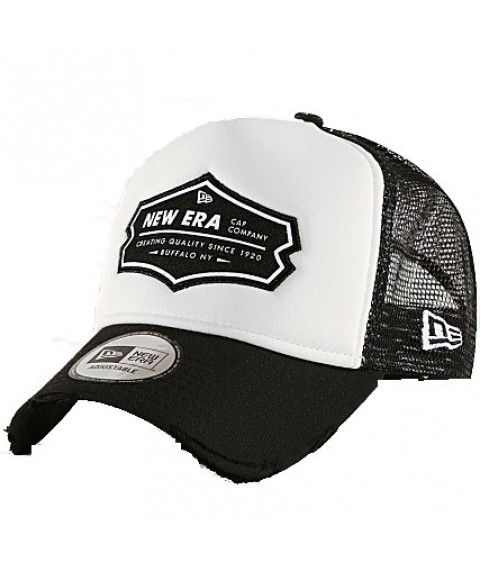 New Era Casquette Trucker Patch Black White