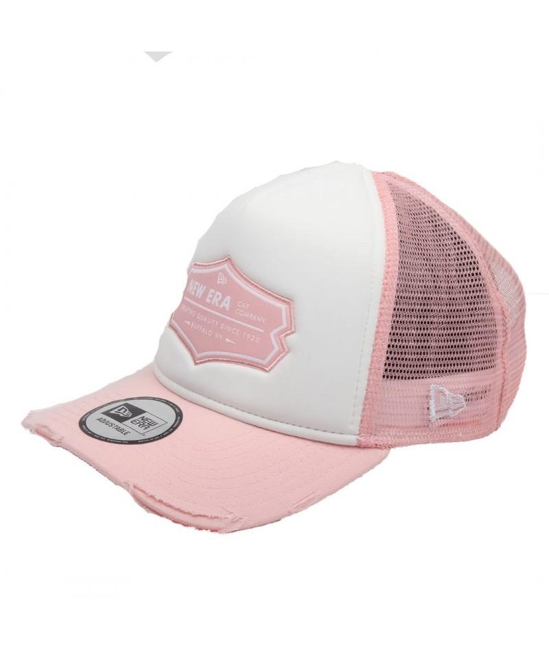 Cap New Era 940 Patch Trucker NE pink / white