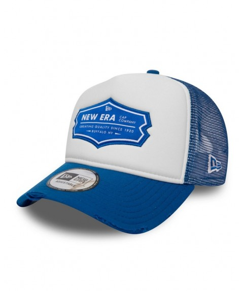 New Era Patch Trucker Distressed Royal