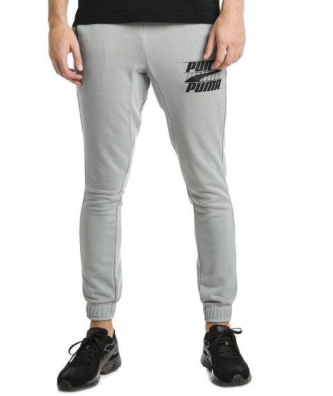 Puma Rebel Block Pants Grey