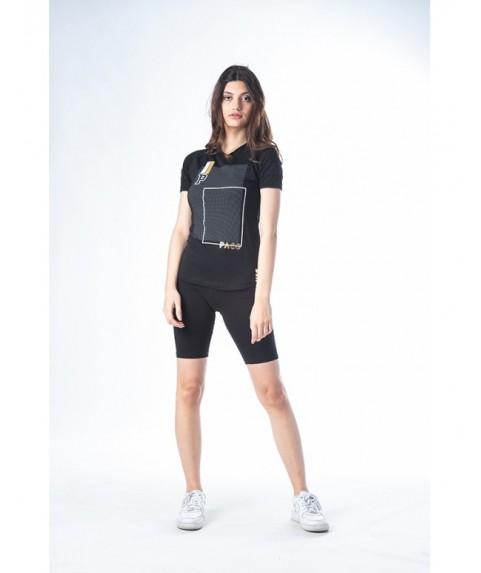 """Μπλούζα Paco & Co """"T-shirt Reglan P"""" Μαύρο 201630-01"""