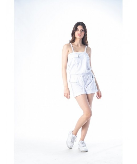 Φόρεμα Jumpsuit Paco & Co ''Tank With Pockets'' Λευκό 201677-02