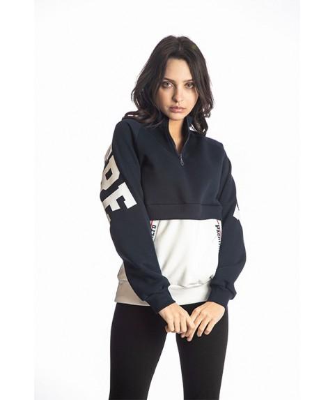 Γυναικείο Φούτερ Paco & Co Navy Blue/White 218159-01