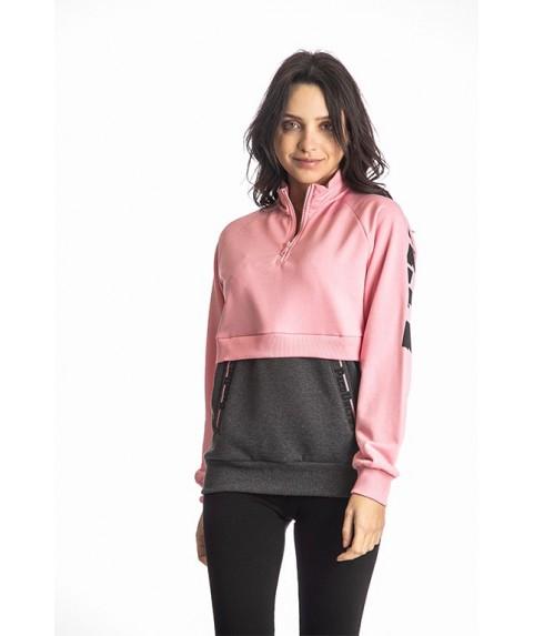 Γυναικείο Φούτερ Paco & Co Pink Grey/White 218159-03