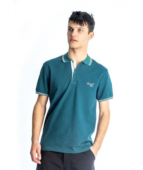 Paco & Co Men's T-shirt Polo Embroidery Green