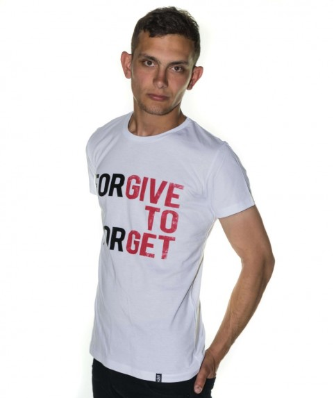 Paco & Co Men's T-shirt Forgive To Forget White 85137-03