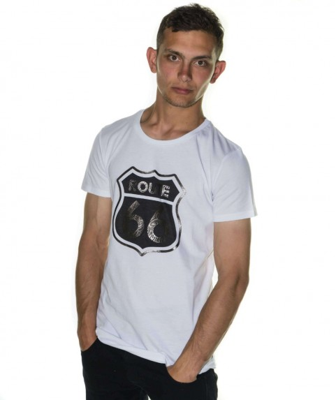 Paco & Co Men's T-shirt Route 66 White 85139-01