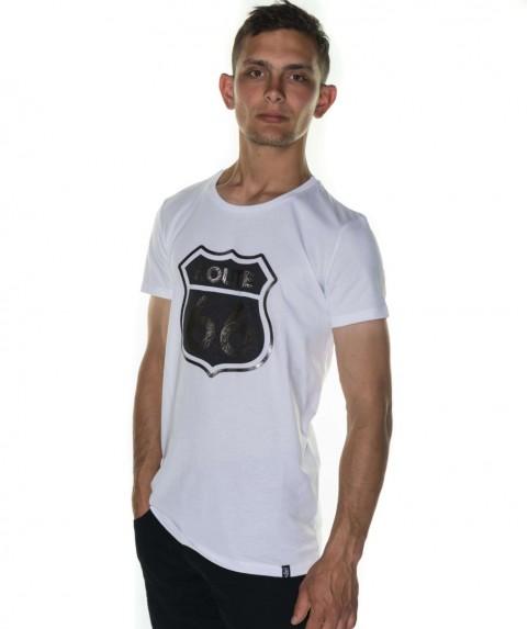 Paco & Co Men's T-shirt Route 66 White 85139-01
