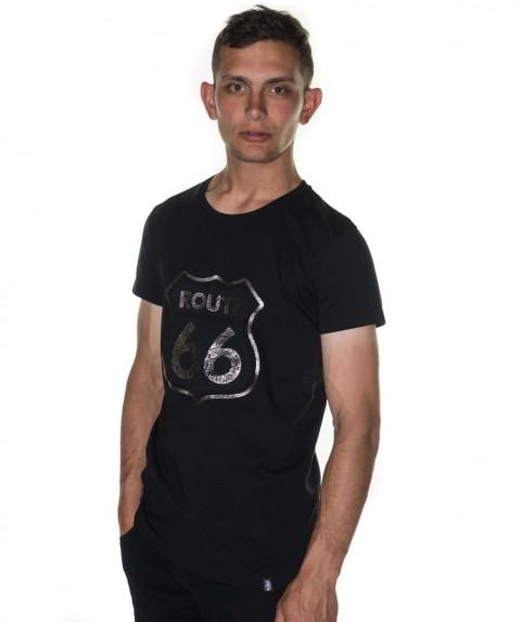 Paco & Co Men's T-shirt Route 66 Black 85139-02