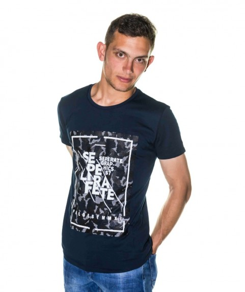 Paco & Co Men's T-shirt Seperate Navy
