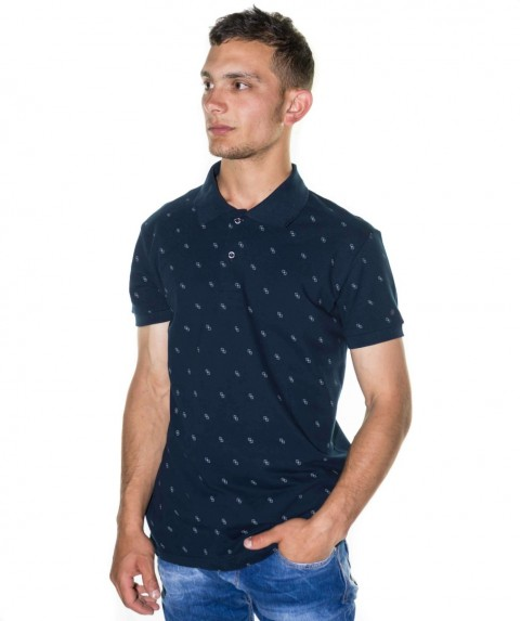 Paco & Co Men's T-shirt Polo Navy