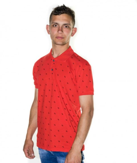 Paco & Co Men's T-shirt Polo Red