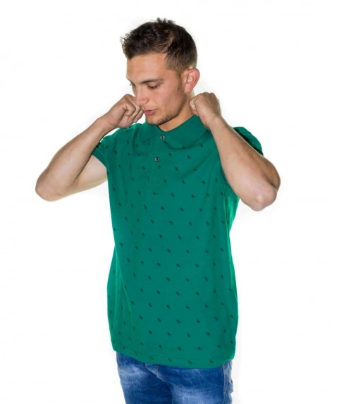 Paco & Co Men's T-shirt Polo Green