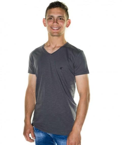 Paco & Co Men's T-shirt V-Neck Grey