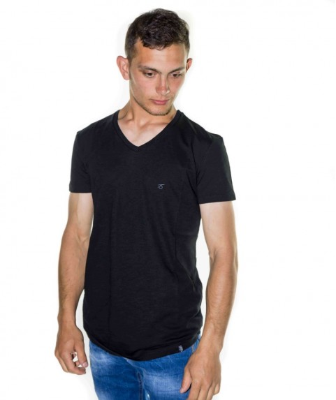 Paco & Co Men's T-shirt V-Neck Black