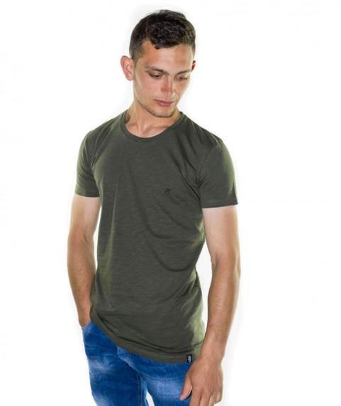 Paco & Co Men's T-shirt Crew Nek Khaki