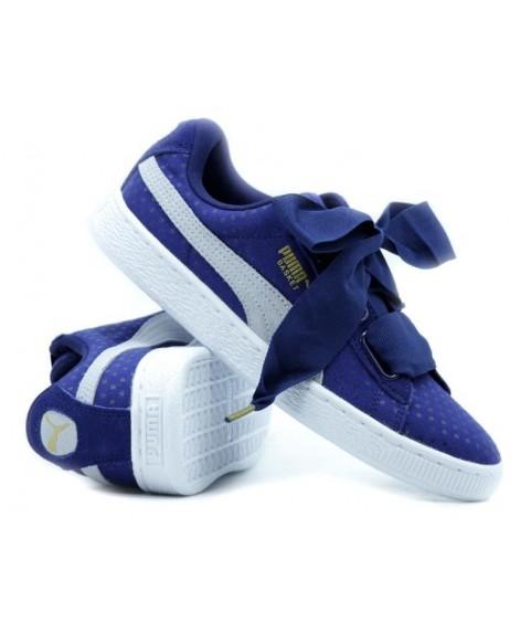 Puma Basket Heart Blue Puma Sneakers  363371-01