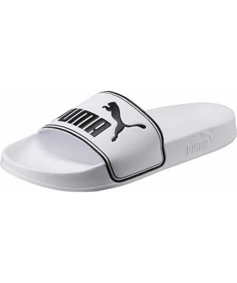 Puma Leadcat Big Logo White Black Men Sandal 360263-08
