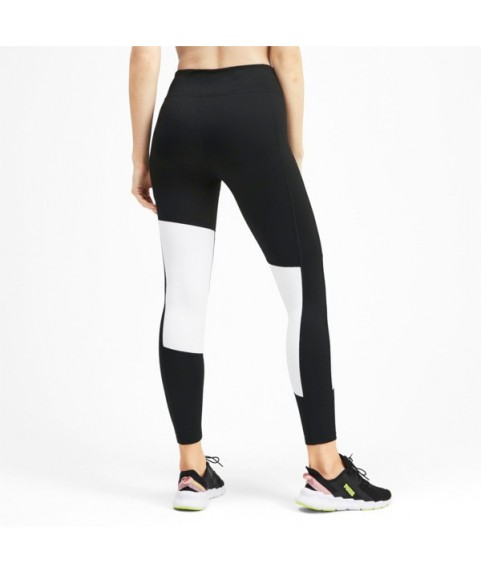 Logo 7/8 Graphic Women's Training Leggings Black/White 518337-04