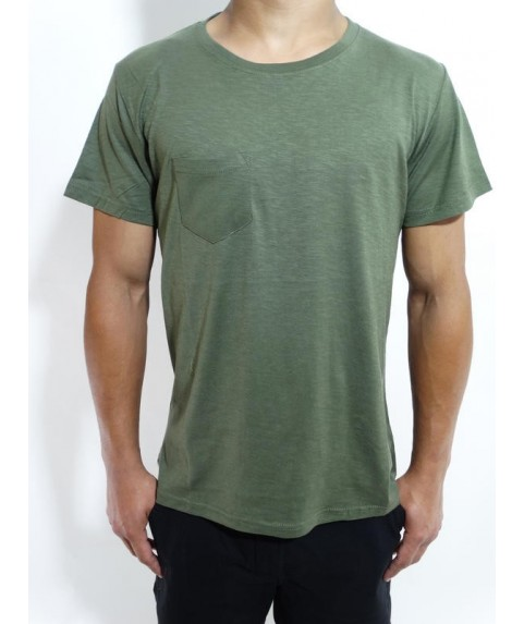 SLUB TEES WITH POCKET KHAKI