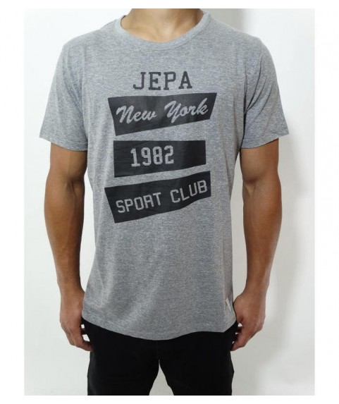 Original Graphic Tee Whith Print Grey Mel New York