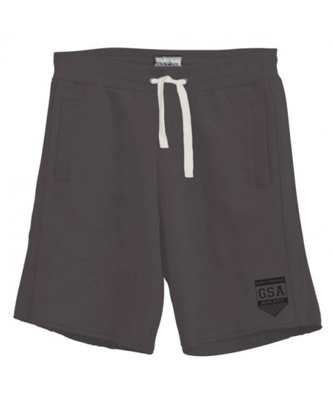 GSA MEN'S GLORY & HERITAGE EMBROIDERED SHORTS CHARCOAL