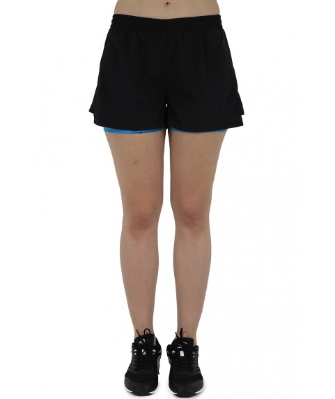 Shorts Woven Black Diva Blue