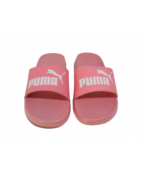 Zoom Puma Popcat Unisex Slide in Peach 360265-25
