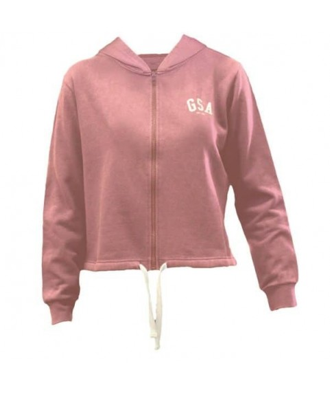 GLORY & HERITAGE Zipper Hoodie Dusty Pink
