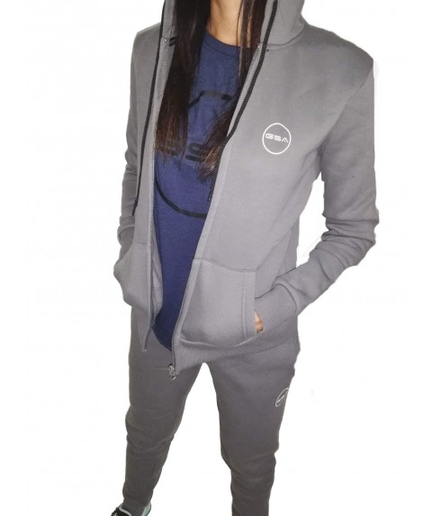 GSA SUPERCOTTON ZIPPER HOODIE CHARCOAL
