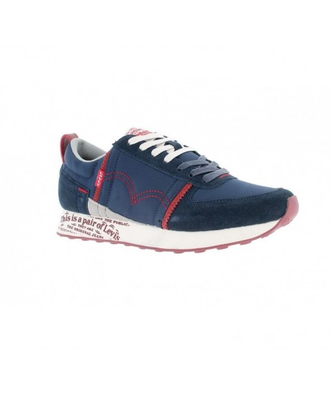 HIGH-TOP TRAINERS FOR MEN Navy Blue