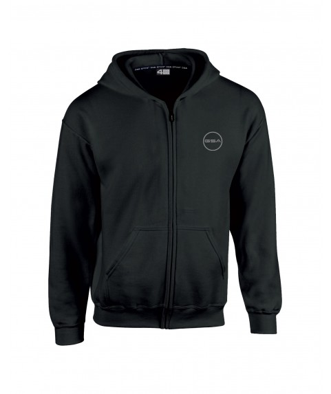 GSA SUPERCOTTON ZIPPER HOODIE (KIDS) BLACK