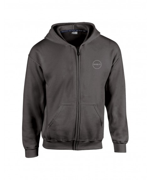 GSA SUPERCOTTON ZIPPER HOODIE (KIDS) CHARCOAL
