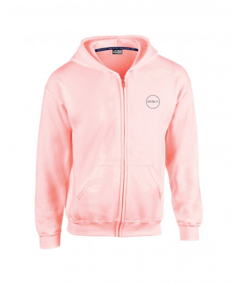 GSA SUPERCOTTON ZIPPER HOODIE (KIDS) DUSTY PINK