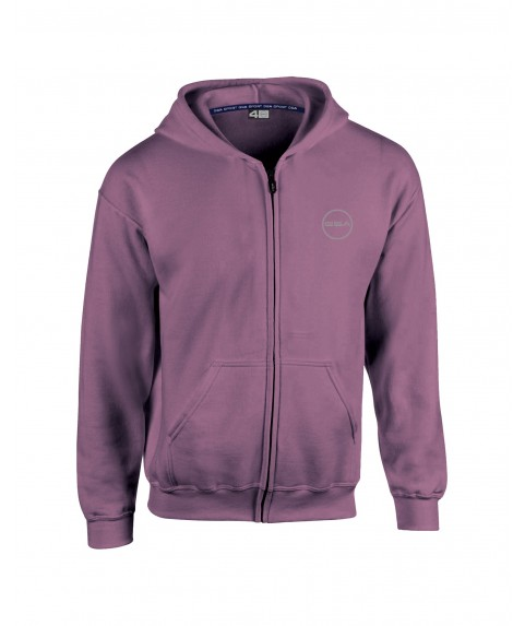 GSA SUPERCOTTON ZIPPER HOODIE (KIDS) PURPLE