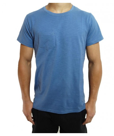 SLUB TEES WITH POCKET DENIM