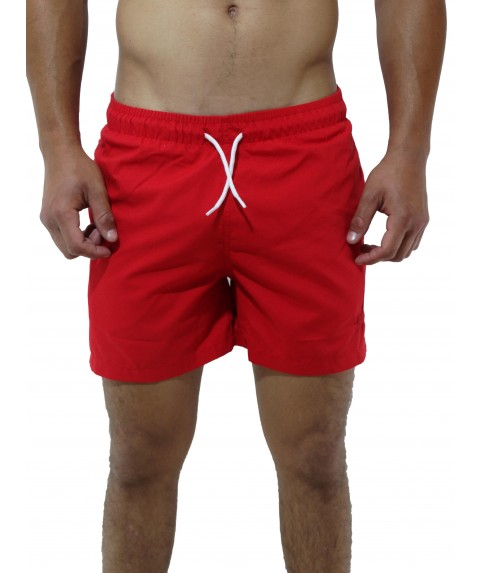 CLASSIC SWIMSHORTS WITH EMBROIDERY LOGO RED