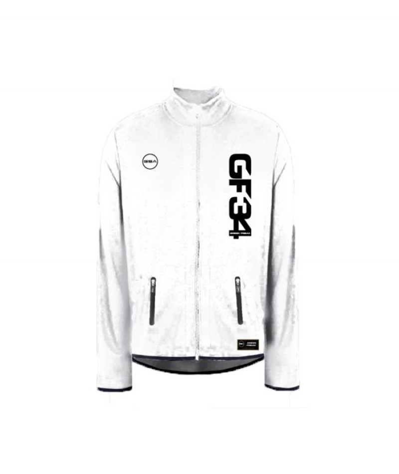 GREEK FREAK MOCK JACKET WHITE