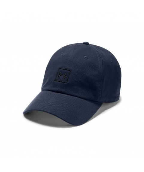 UNDER ARMOUR MENS WASHED COTTON CAP NAVY