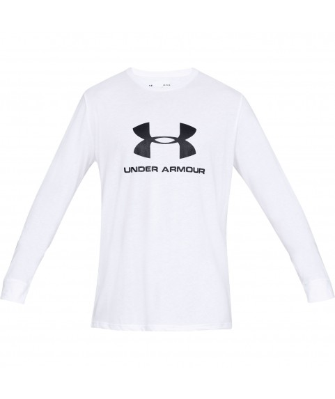 Under Armour Sportstyle Logo Long Sleeve White