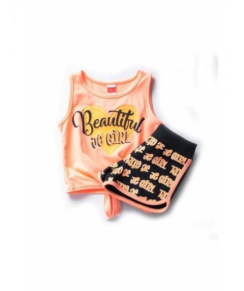 """Παιδικό σετ Joyce """"Beautiful"""" μαύρο/πορτοκαλί για κορίτσι 201154"""