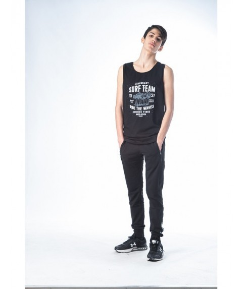 Μπλούζα αμάνικη Paco & Co ''Tank Top shirt surf team''  Μαύρο 201588-01